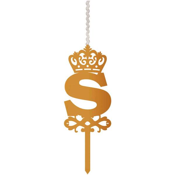 شمع تولد طرح حرف S کد HMS