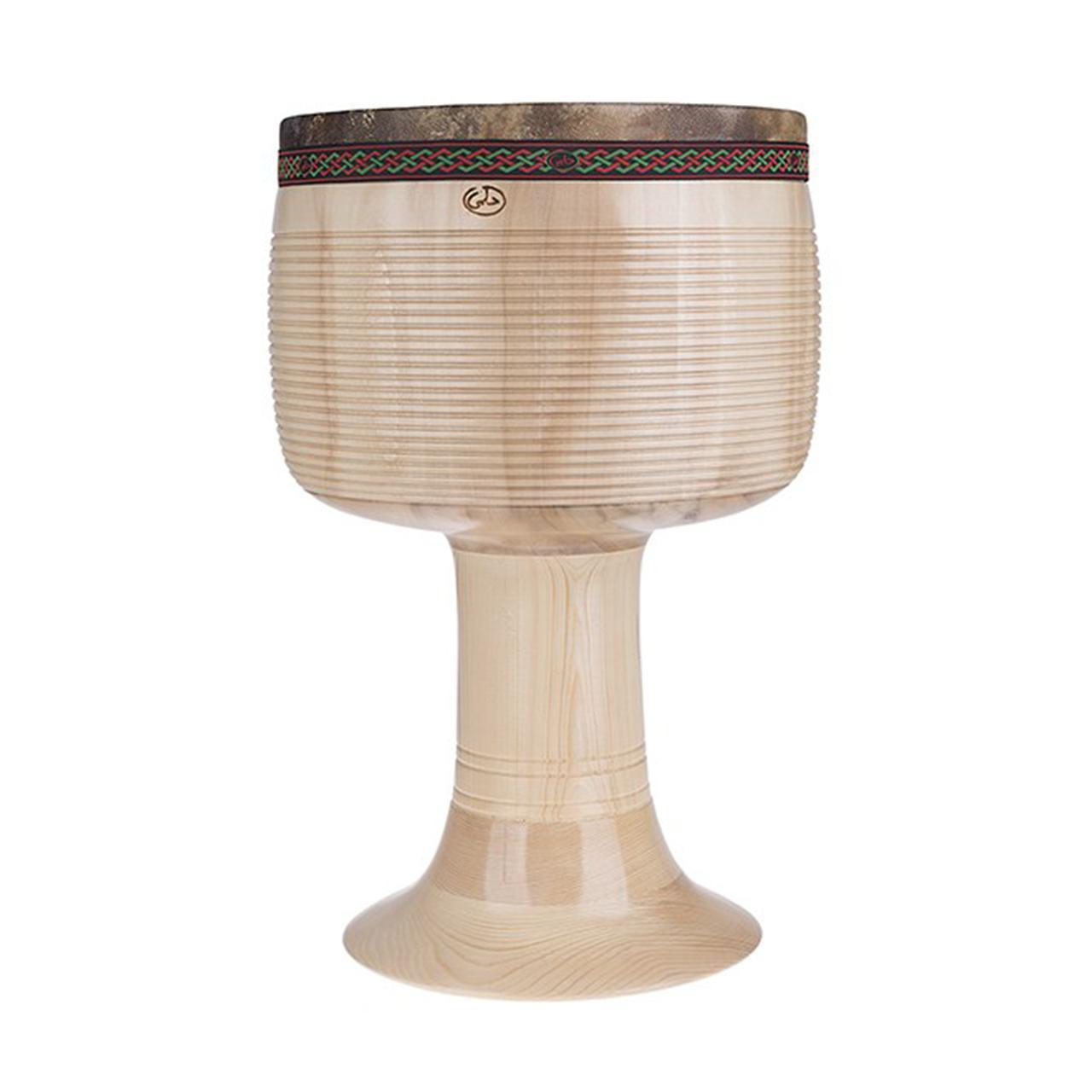 تنبک حلمی مدل ترکهای بدون رنگ سایز 28 با پوست شتر