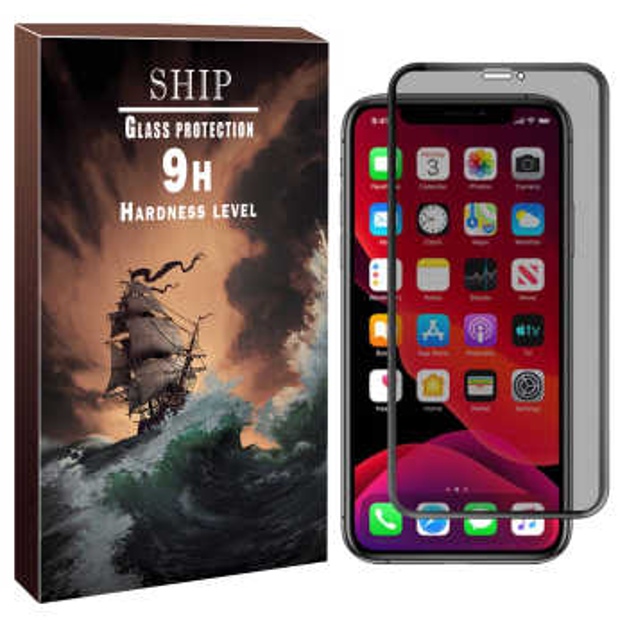 محافظ صفحه نمایش حریم شخصی شیپ مدل FUM-01 مناسب برای گوشی موبایل اپل Iphone XR