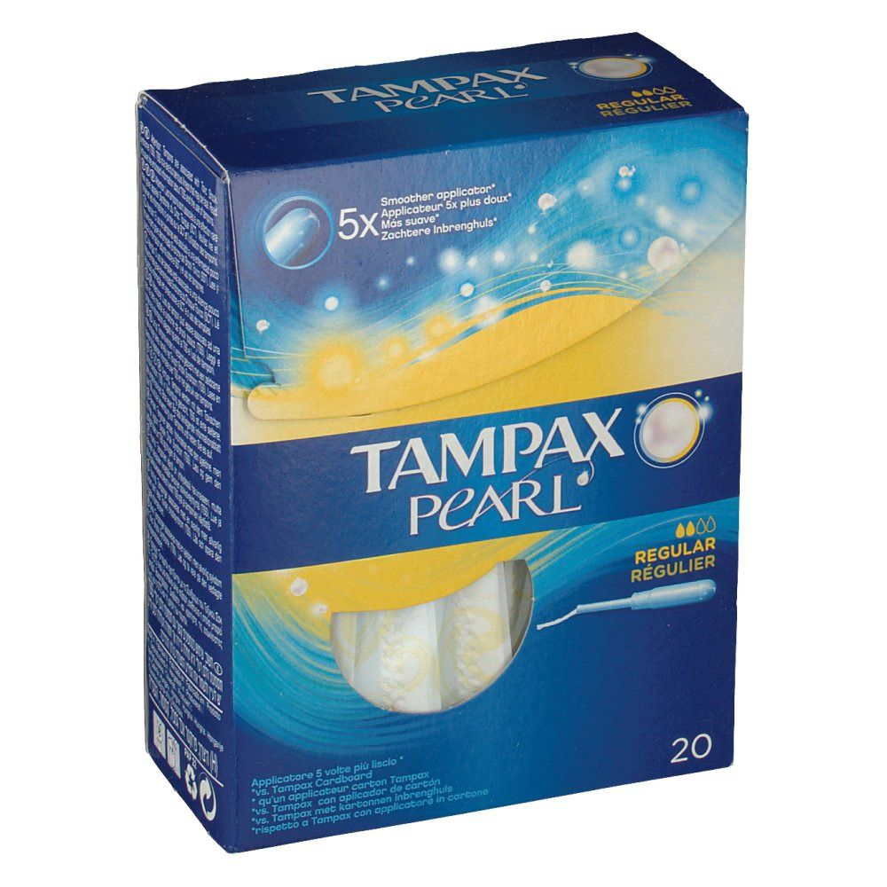تامپون تامپکس مدل  Pearl Regular بسته 20 عددی