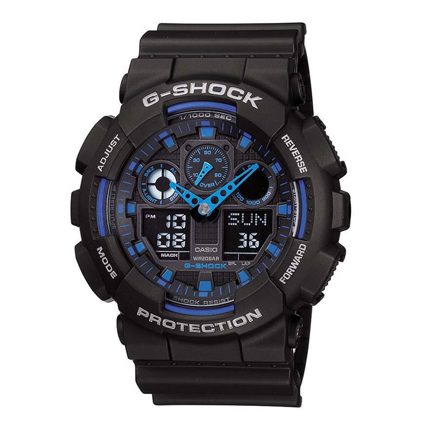 ساعت مچی عقربه ای مردانه کاسیو مدل جی شاک کد GA-100-1A2              خرید (⭐️⭐️⭐️)