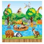 دیوارپوش اتاق کودک مدل شادن طرح جنگل