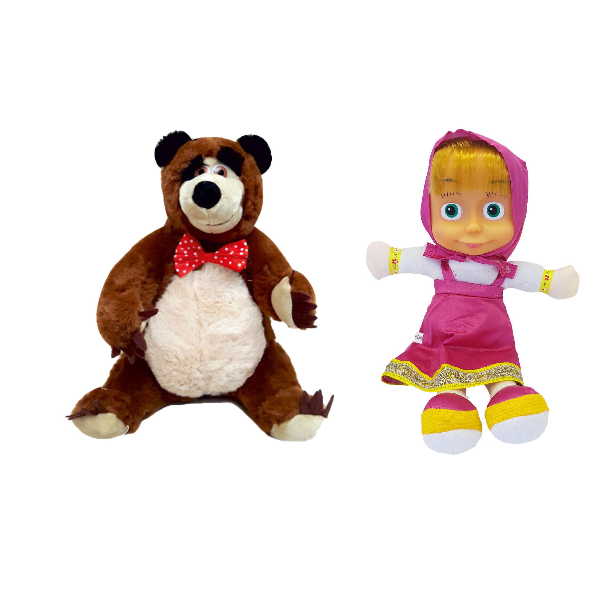عروسک طرح میشا و ماشا بسته دو عددی