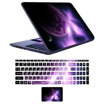 استیکر لپ تاپ کد spa-ce 04  به همراه برچسب حروف فارسی کیبورد