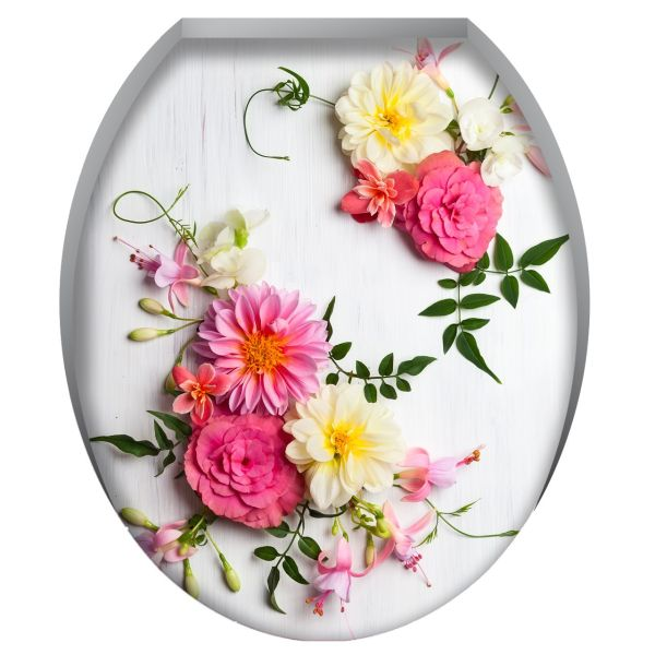 استیکر سرویس بهداشتی  ژیوار طرح شاخه های گل