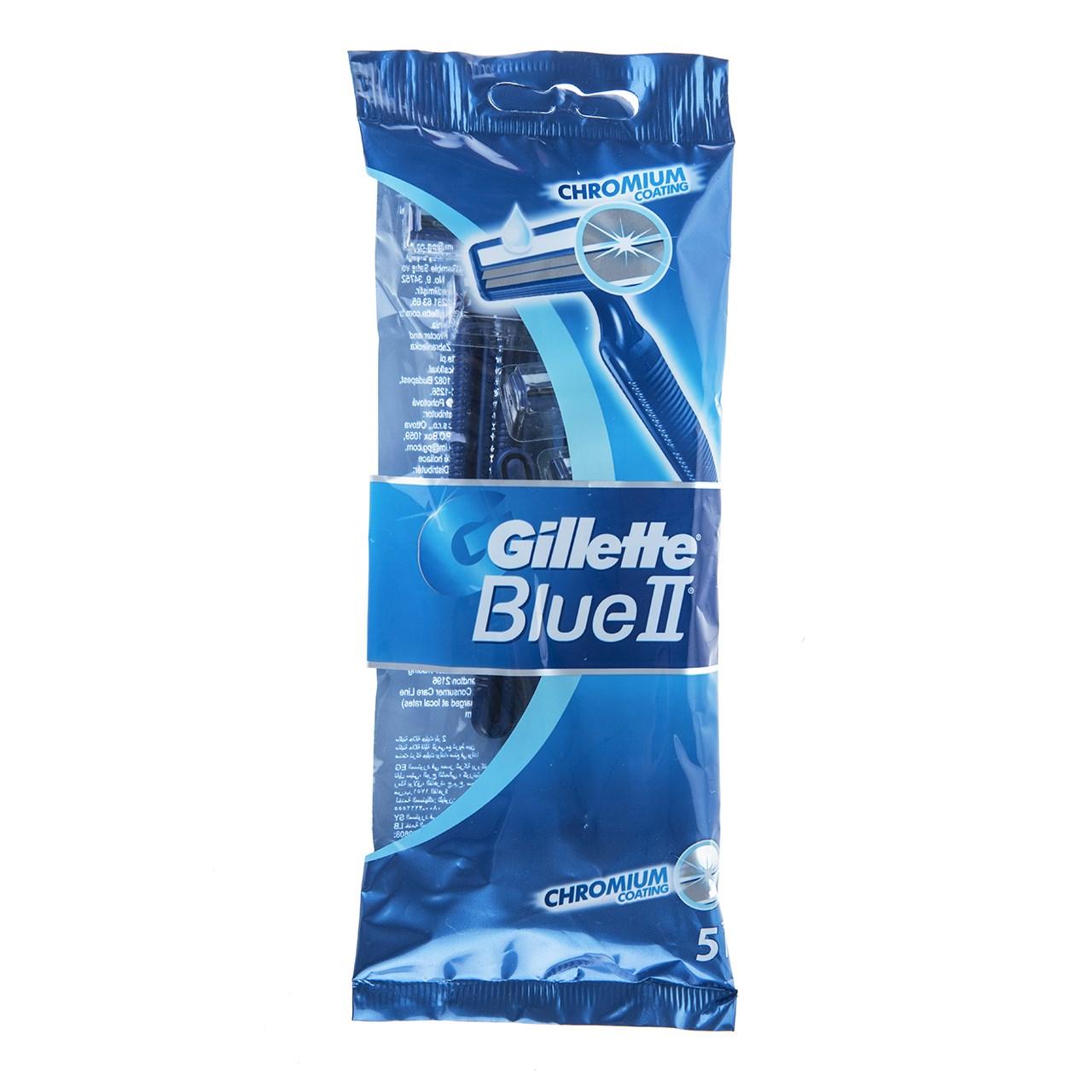 قیمت خود تراش ژیلت مدل Blue 2 بسته 5 عددی