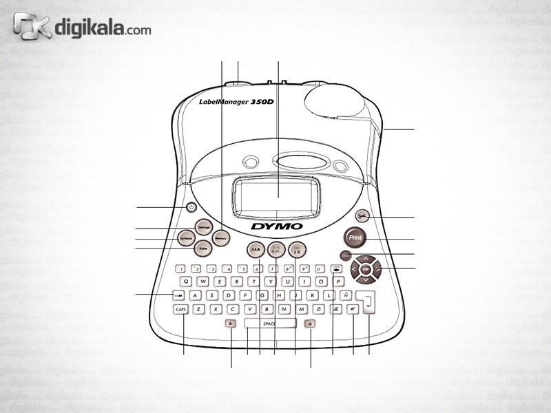 قیمت                      پرینتر لیبل زن دایمو LabelManager 350D