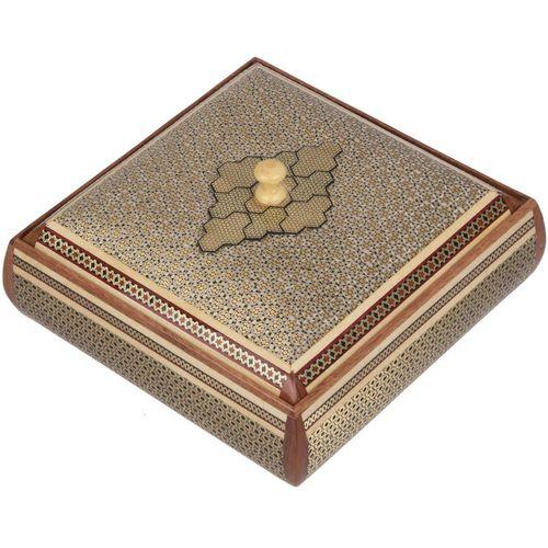 جعبه خاتم اثر کروبی مدل مربعی طرح 3 سایز بزرگ