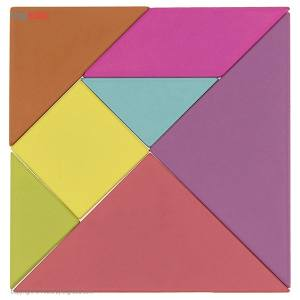 بازی فکری دریم شیک تویز مدل تانگرام بلوک های چوبی 7 قطعه  Dream Shake Toys Tangram Wooden Blocks 7