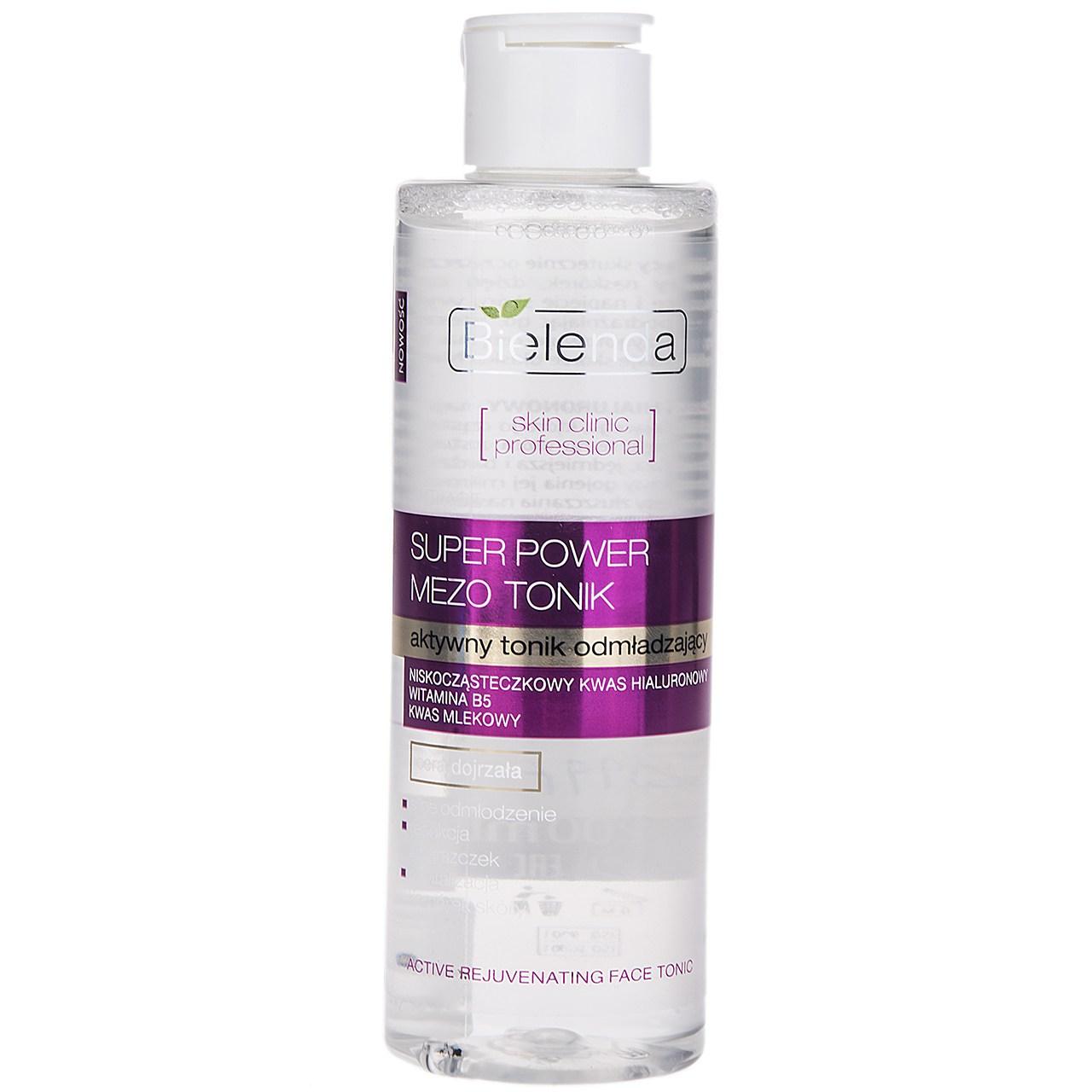 تونر پاک کننده بی یلندا سری Skin Clinic Professional Mezo مدل Rejuvenating Therapy حجم 200 میلی لیتر