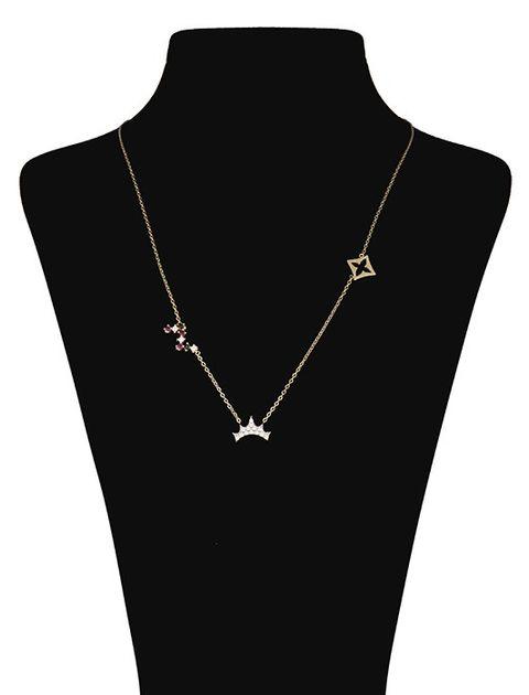 گردنبند طلا 18 عیار ماهک مدل MM0485 - مایا ماهک -  - 1