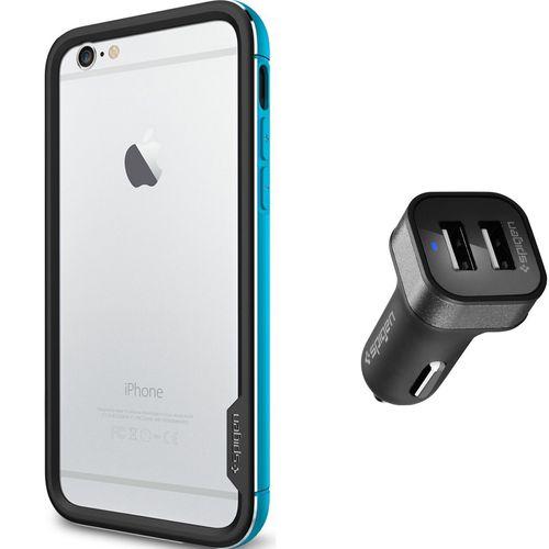 مجموعه کاور و شارژر فندکی اسپیگن شماره 3 مناسب برای گوشی موبایل آیفون 6
