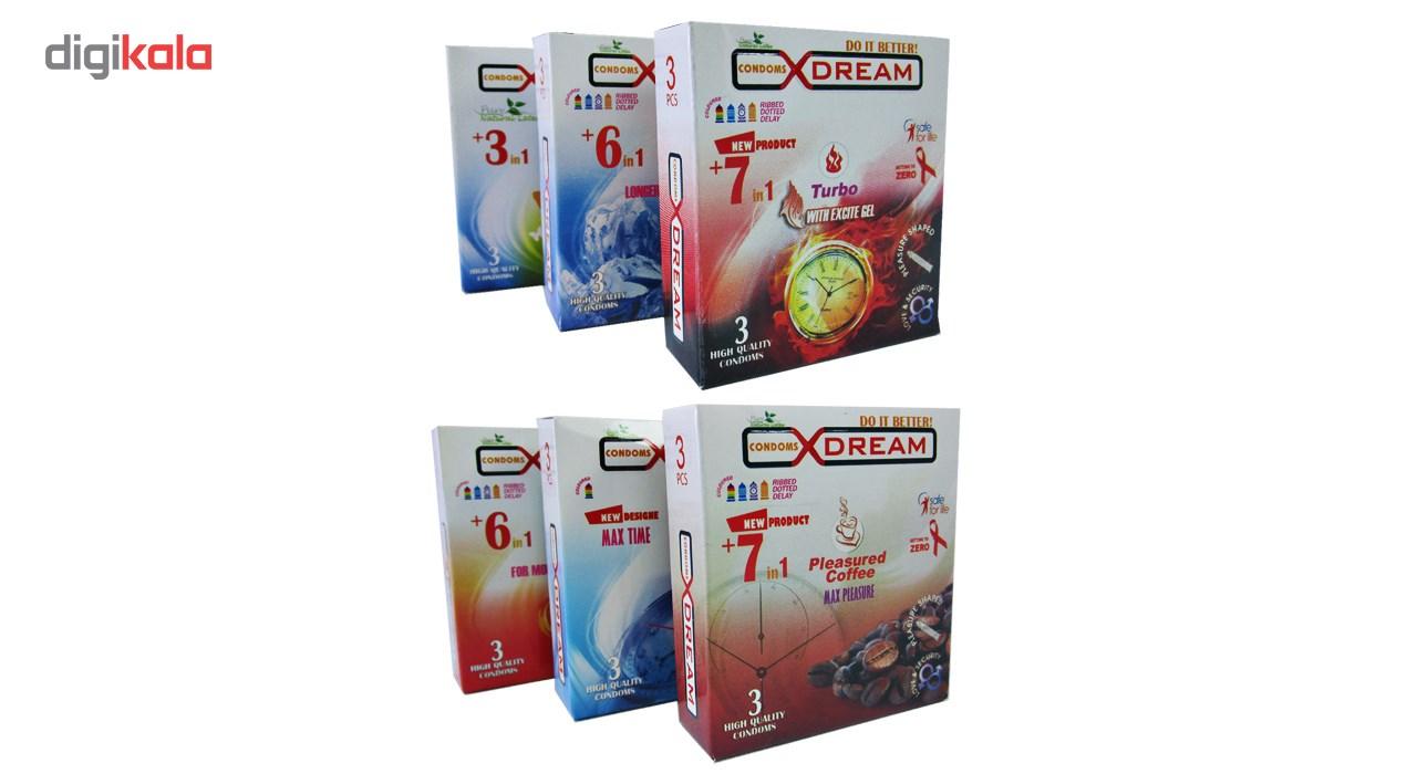 پک 6 بسته ای کاندوم ایکس دریم مدل جور 3  بسته 3 عددی