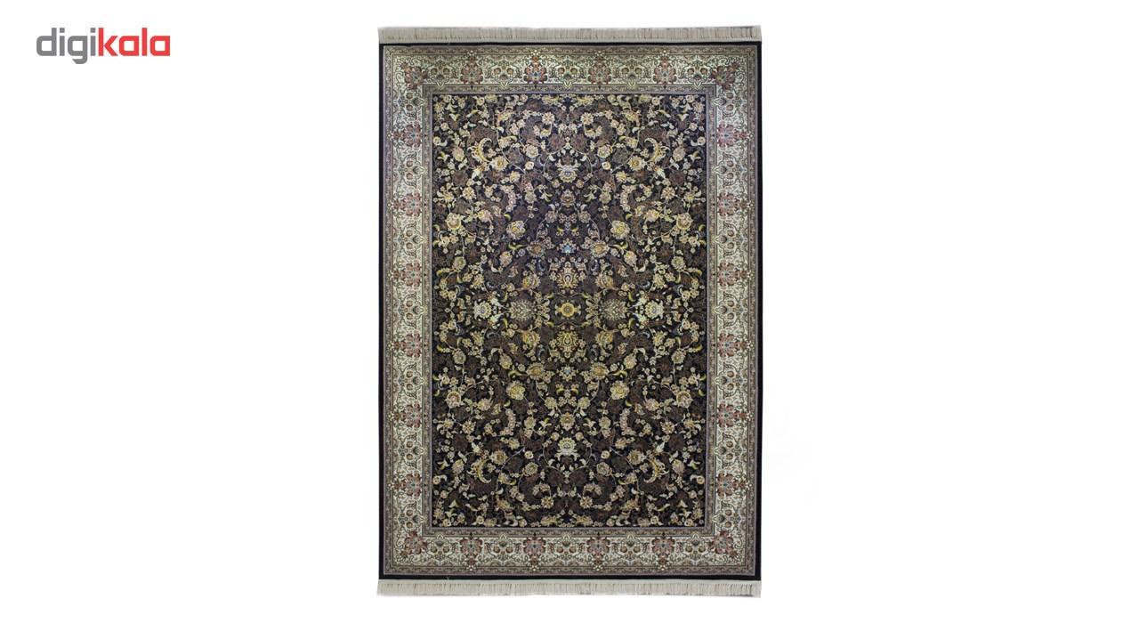 فرش ماشینی پاتریس طرح افشان شهسوار زمینه سرمه ای