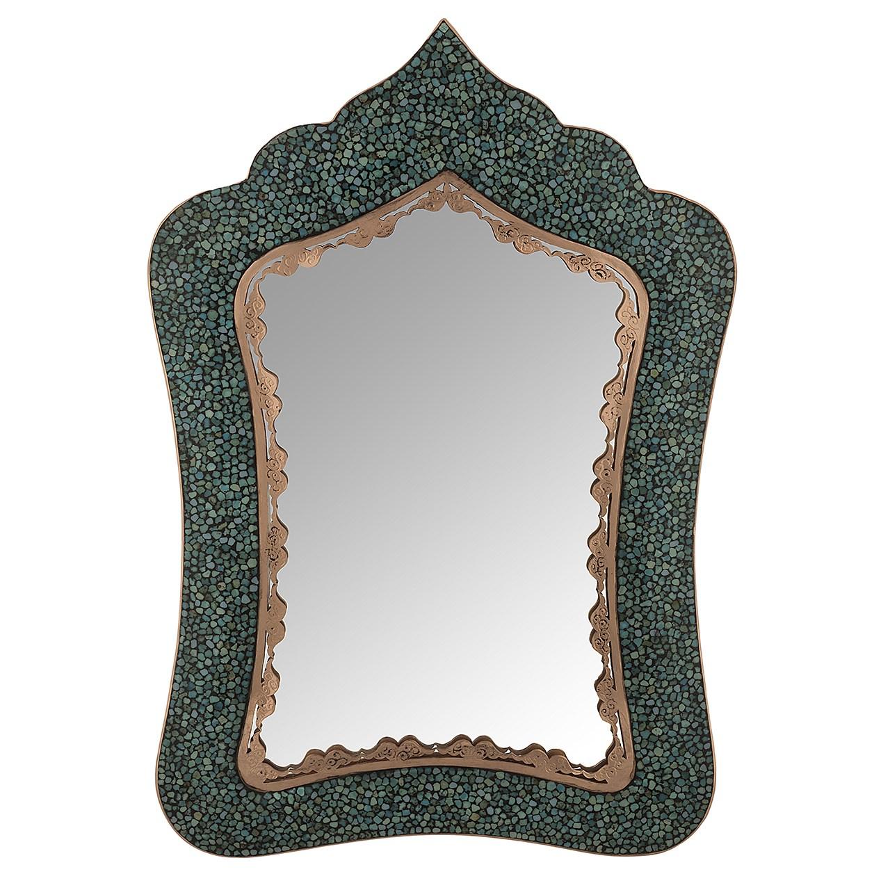آینه فیروزه کوب اثر آقاجانی ارتفاع 36 سانتی متر
