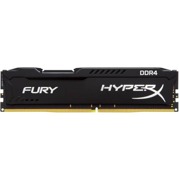 رم کامپیوتر کینگستون مدل HyperX Fury DDR4 2400MHz CL15 ظرفیت 8 گیگابایت | Kingston HyperX Fury 8GB DDR4 2400MHz CL15 Single Channel RAM HX424C15FB28