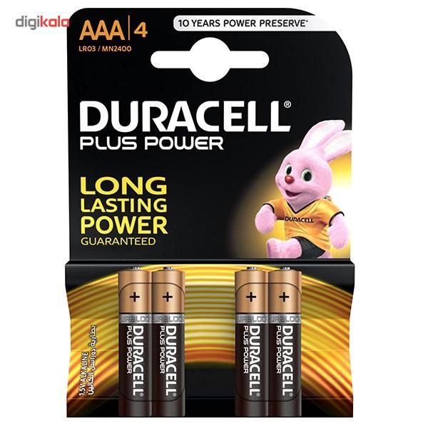 باتری نیم قلمی دوراسل مدل Plus Power بسته 4 عددی