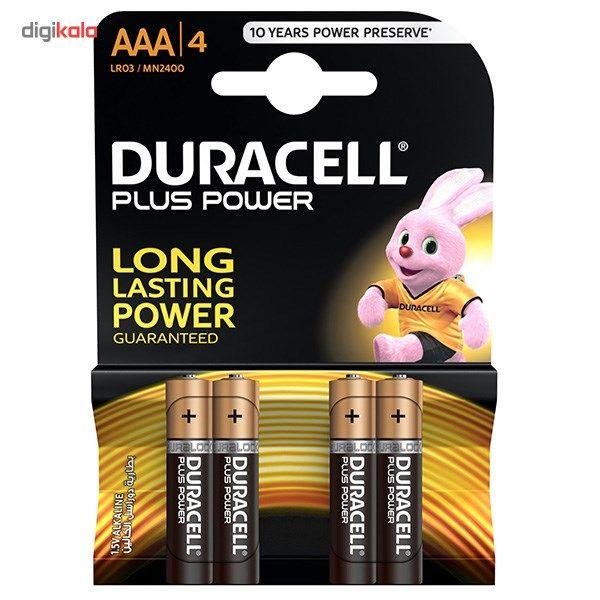 باتری نیم قلمی دوراسل مدل Plus Power بسته 4 عددی main 1 1
