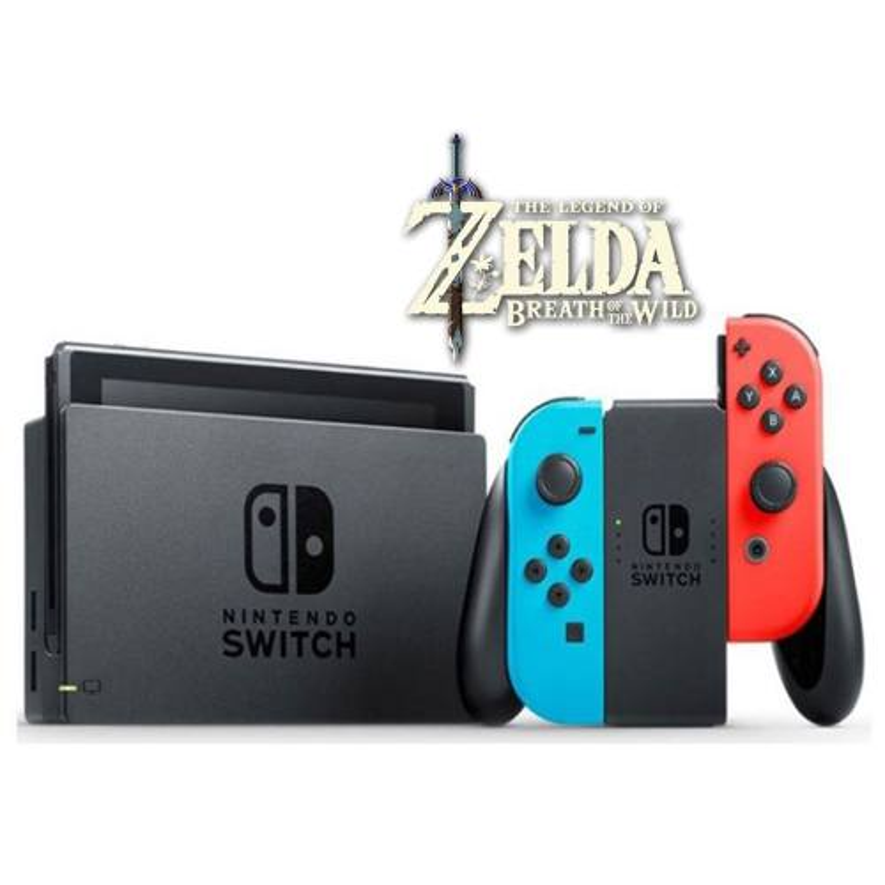 مجموعه کنسول بازی نینتندو مدل Switch Neon Blue and Neon Red Joy-Con