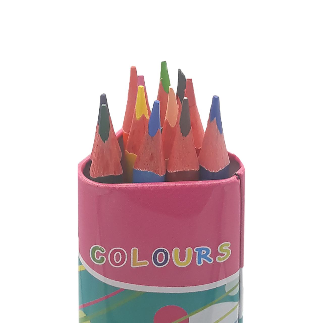 مداد رنگی 12 رنگ اسکول مکس مدل AF3