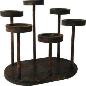 استند گلدان چوبی مدل بادیز کد 004