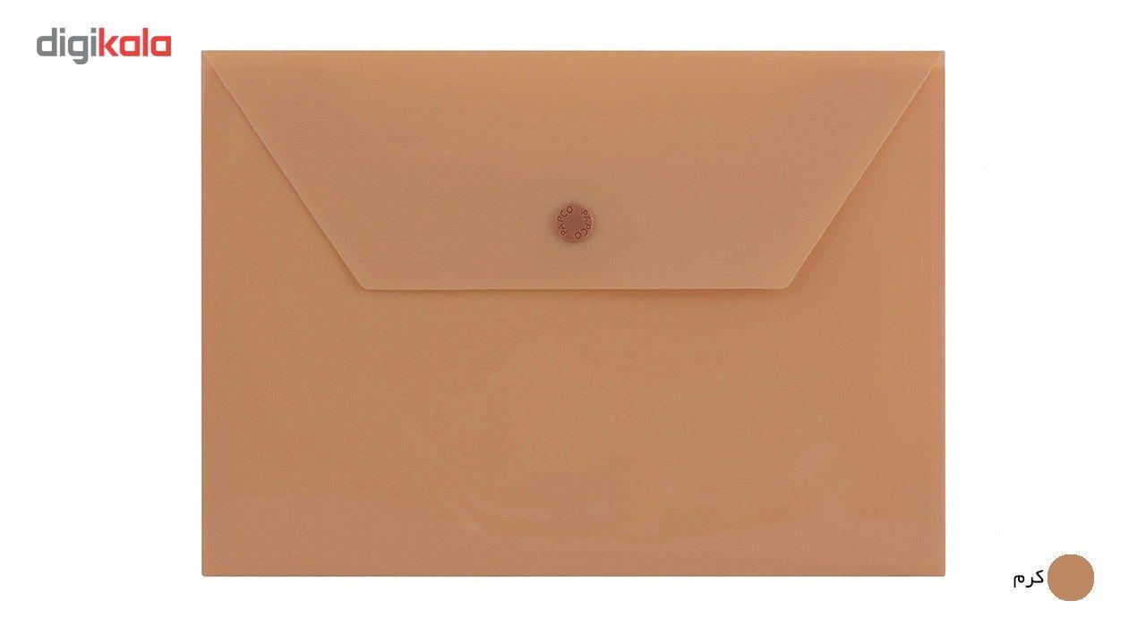 پوشه دکمه دار پاپکو کد B5-ClearM سایز A5 main 1 2