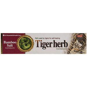 خمیر دندان ال جی سری Bamboo Salt مدل Tiger Herb مقدار 130 گرم