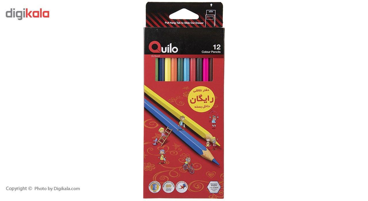 مداد رنگی 12 رنگ کوییلو کد 634003 main 1 1