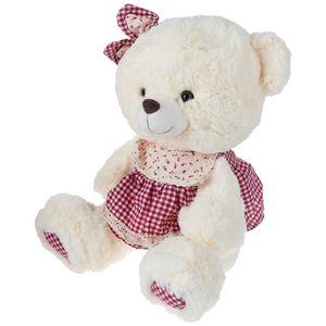 عروسک یاران مدل خرس سفید پیشبند دار ارتفاع 40 سانتی متر
