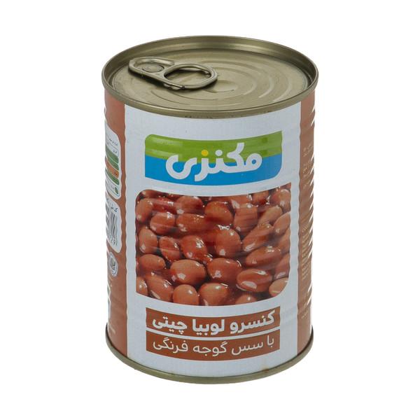 کنسرو لوبیا چیتی با سس گوجه فرنگی مکنزی - 380 گرم