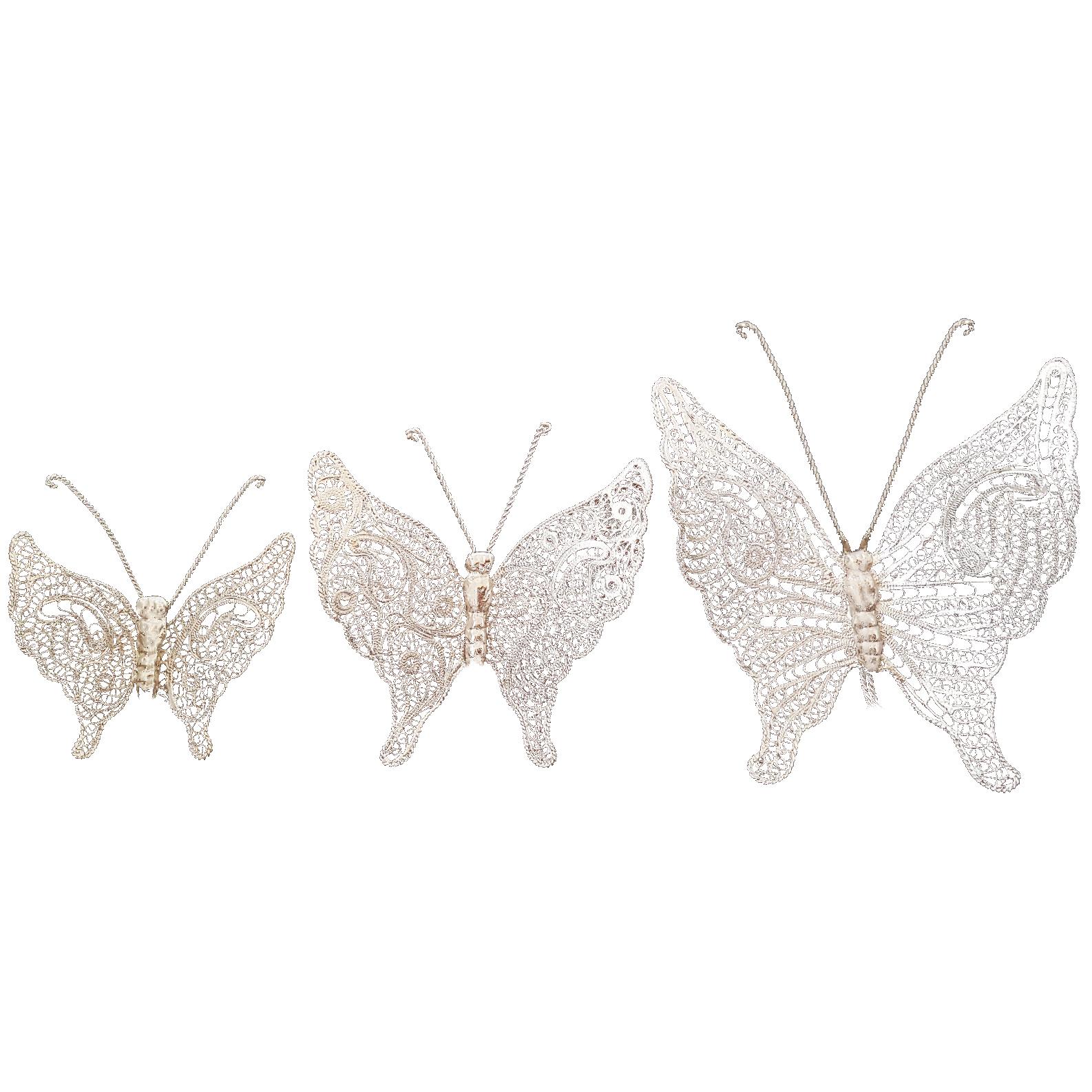 پروانه ملیله کاری هنرلوکس کد m3 مجموعه 3 عددی