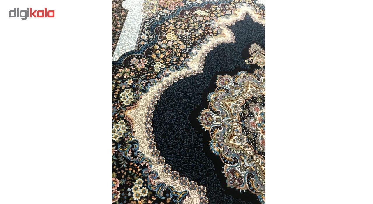 فرش ماشینی توس مشهد طرح شمشاد زمینه سرمه ای