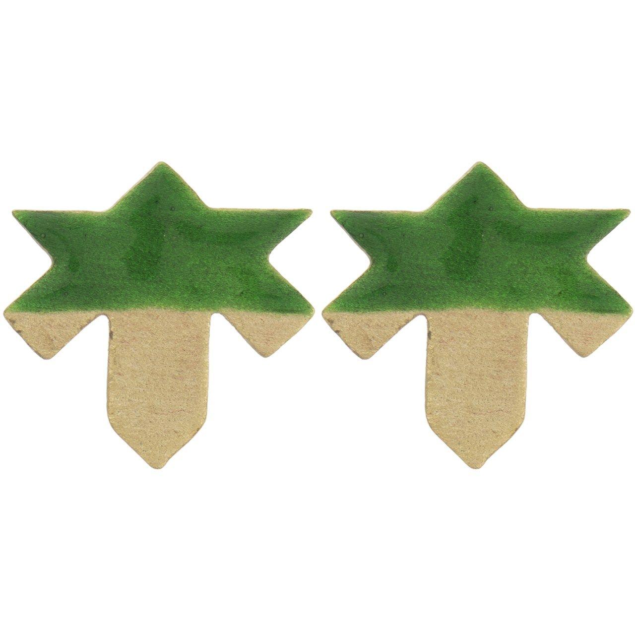 گوشواره فی بی طرح برگ چنار -  - 2