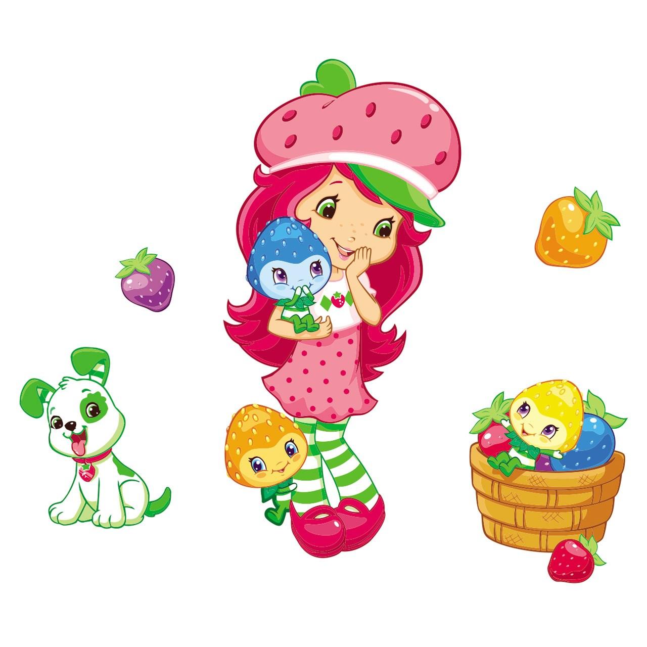 استیکر چوبی جیک جیک مدل Strawberry Shortcake Girl