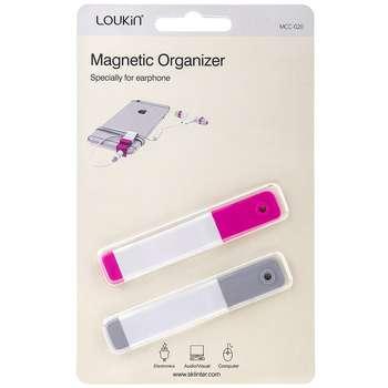 نگهدارنده کابل لوکین مدل Earphone Magnetic Organizer MCC-020