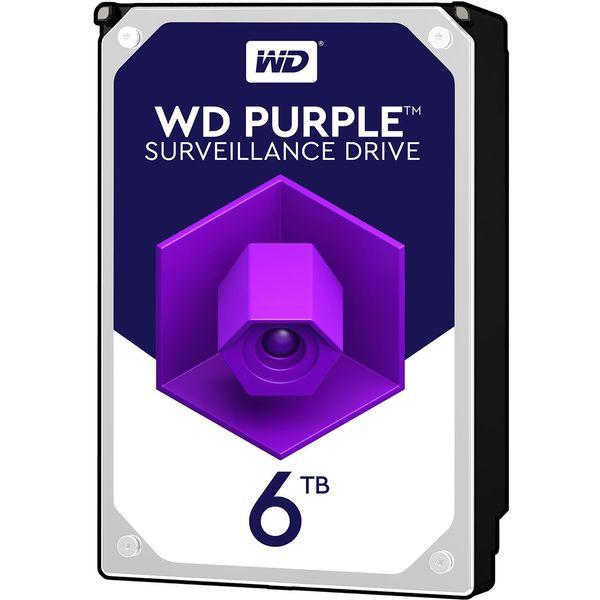 هارددیسک اینترنال وسترن دیجیتال مدل Purple WD60PURZ ظرفیت 6 ترابایت
