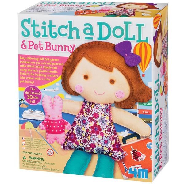 کیت کاردستی 4ام مدل Stitch A Doll And Pet Bunny