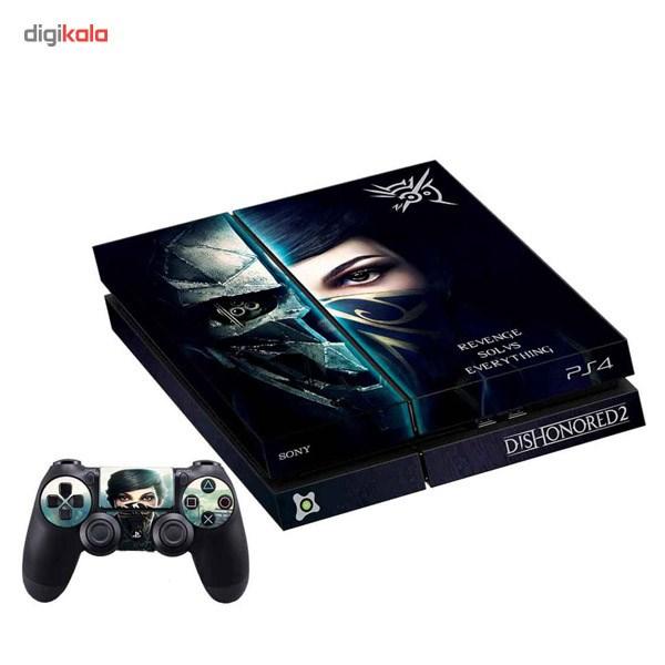 برچسب افقی پلی استیشن 4 آی گیمر طرح Dishonored 2