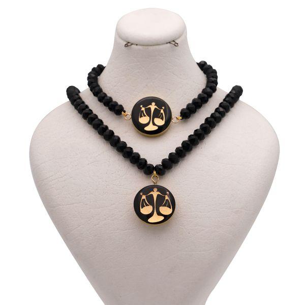 نیم ست طلای 24 عیار زنانه طرح نماد مهر کد 10007M