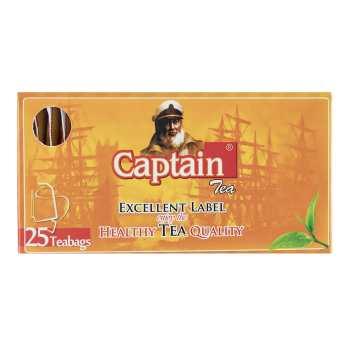 چای کاپیتان تی بگ ساده پاکتدار 25 عددی