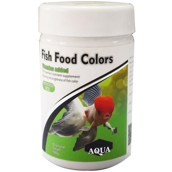غذای آکوا مدل رنگدانه ماهی برای تمام ماهی های گیاه خوار حجم 100 گرمی