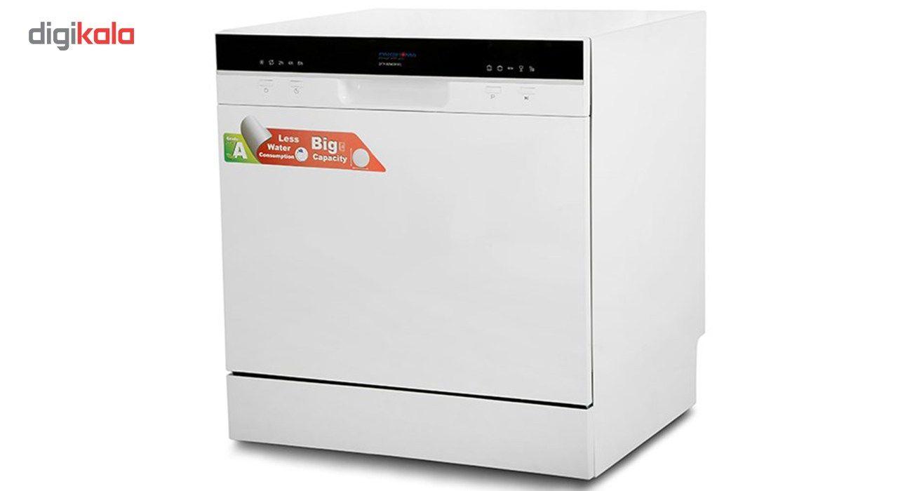 ماشین ظرفشویی رومیزی پاکشوما مدل DTP80960PW1
