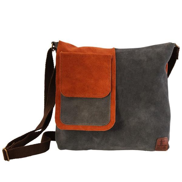 کیف دوشی چرم طبیعی گالری ستاک کد 81014