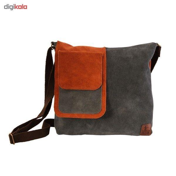 کیف دوشی چرم طبیعی گالری ستاک کد 81014 -  - 1