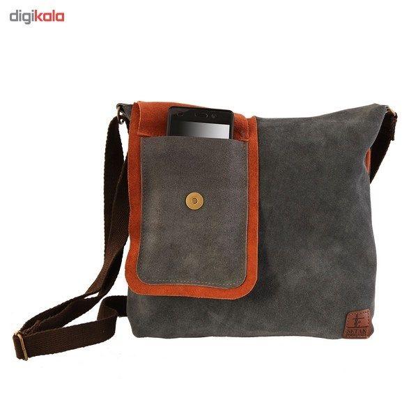 کیف دوشی چرم طبیعی گالری ستاک کد 81014 -  - 2