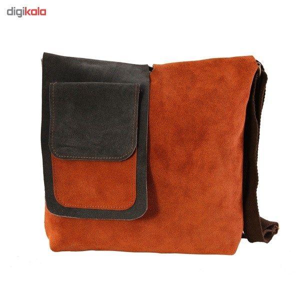 کیف دوشی چرم طبیعی گالری ستاک کد 81014 -  - 3