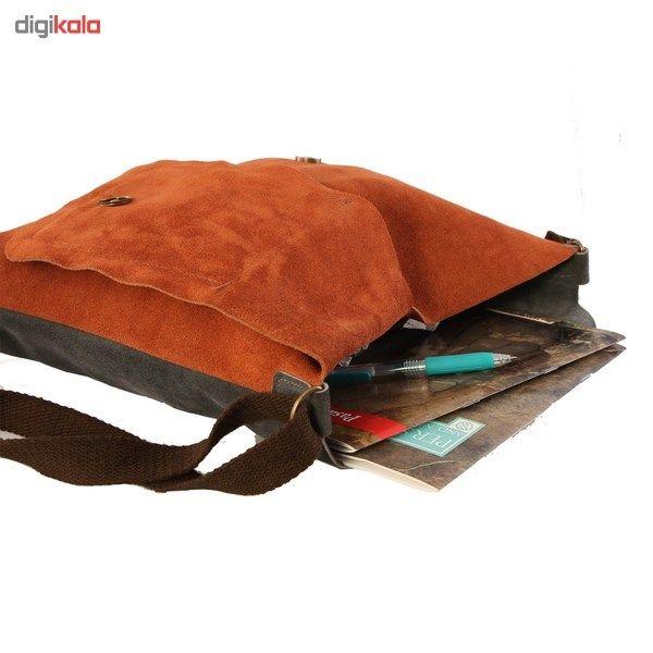 کیف دوشی چرم طبیعی گالری ستاک کد 81014 -  - 4