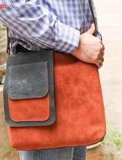 کیف دوشی چرم طبیعی گالری ستاک کد 81014 -  - 6