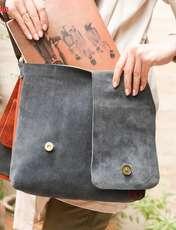 کیف دوشی چرم طبیعی گالری ستاک کد 81014 -  - 7
