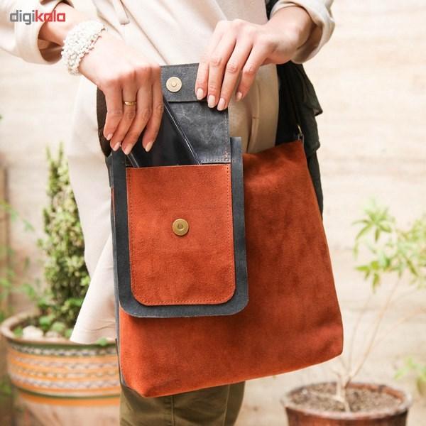 کیف دوشی چرم طبیعی گالری ستاک کد 81014 -  - 5